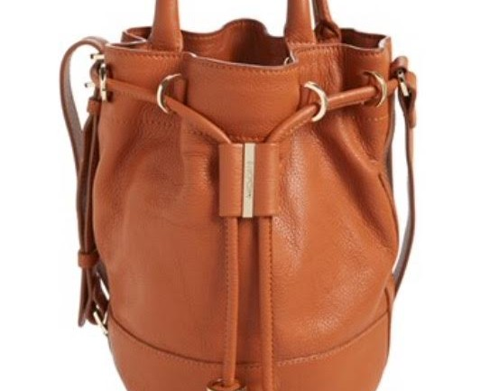 Tan Crossbody bucket bag