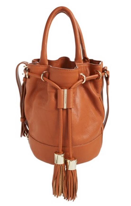 Tan Crossbody bucket bag